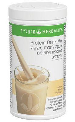 אבקת משקה חלבון בטעם וניל