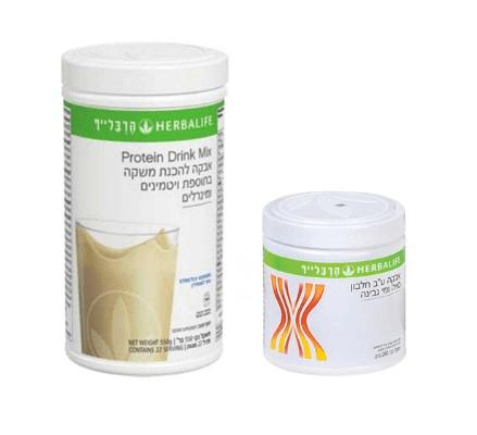 שייק הרבלייף בטעמים ואבקת חלבון